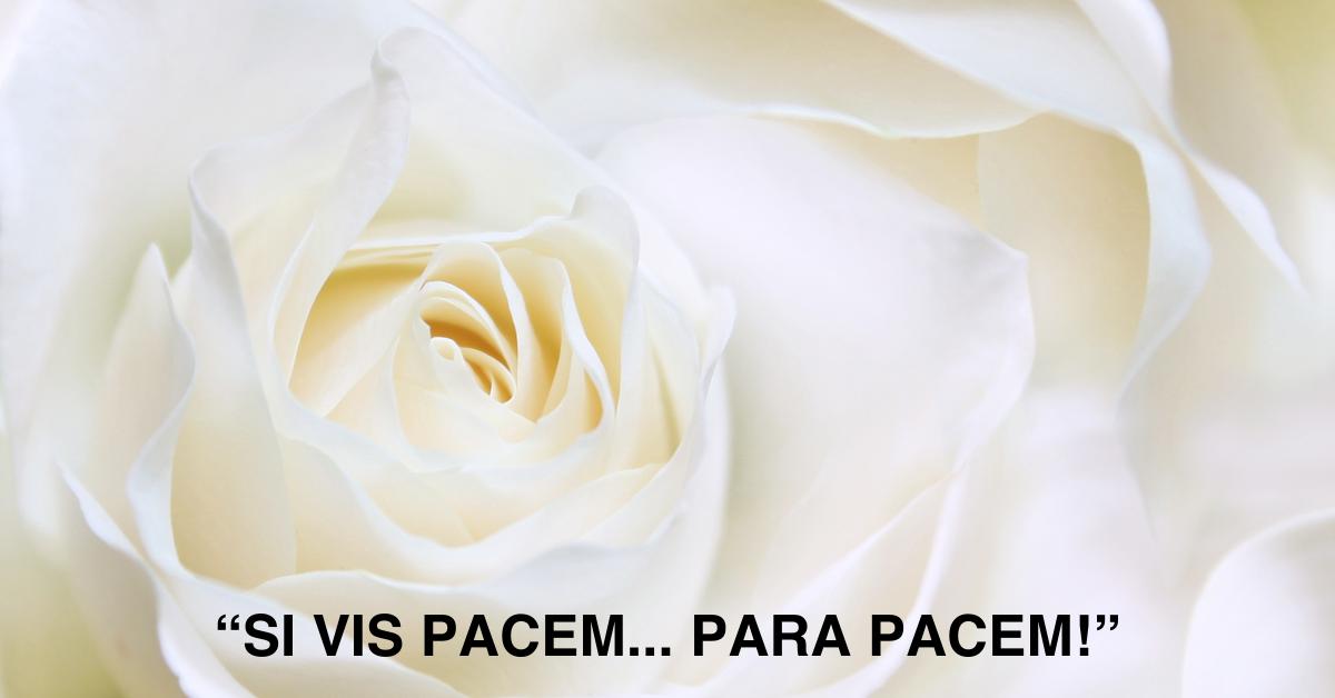 SI VIS PACEM… PARA PACEM!